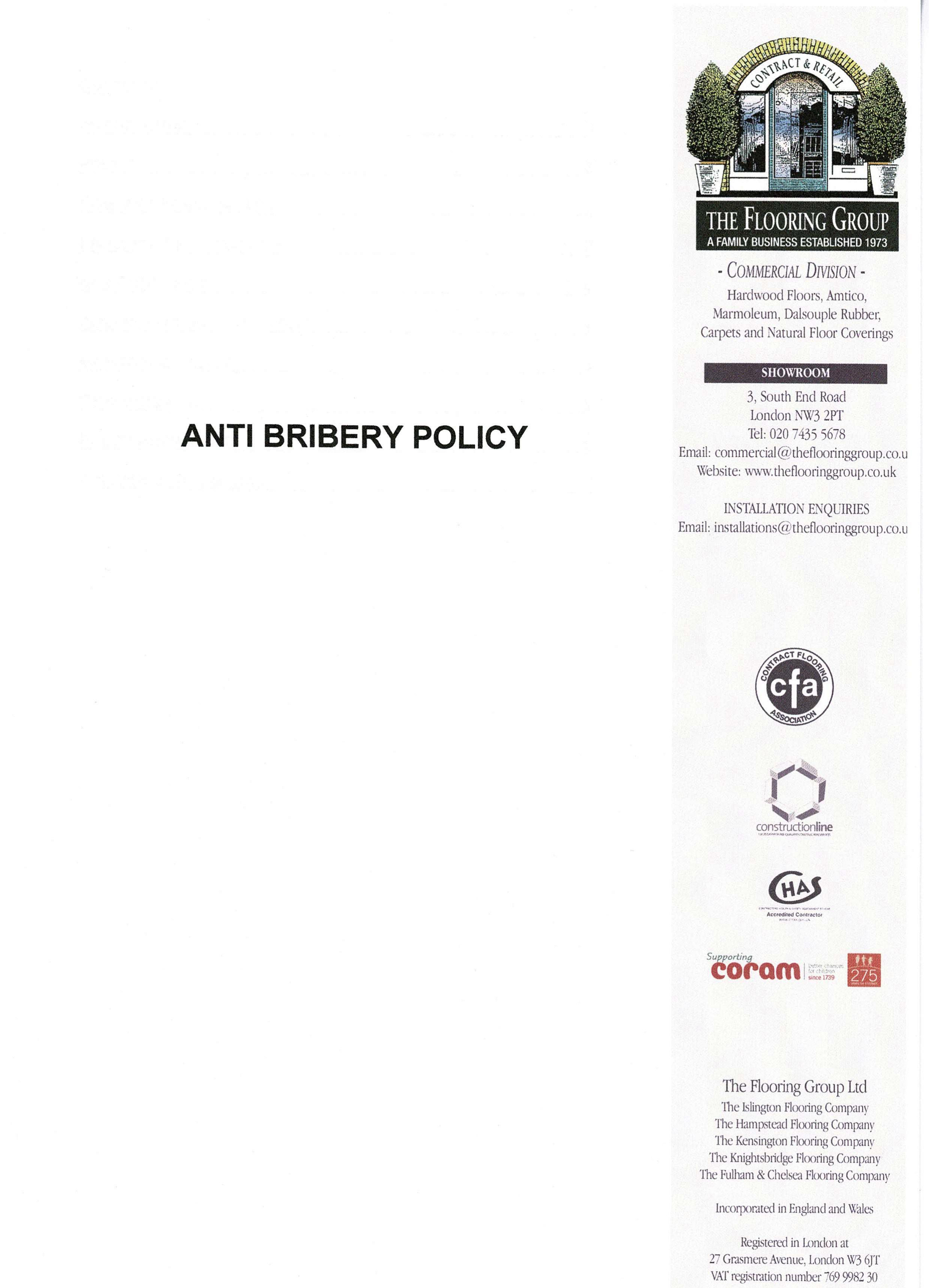 Anti-Bribery Policy page 1