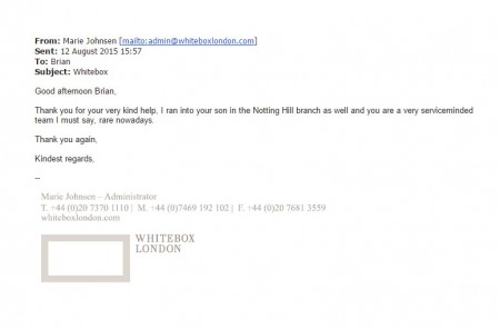 Whitebox London Testimonial