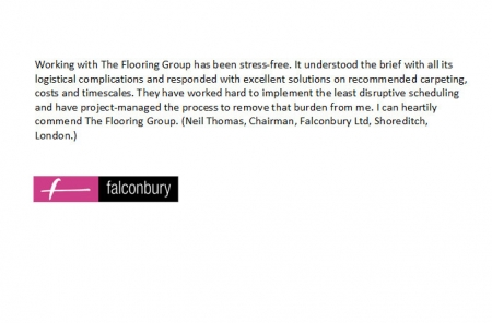 Falconbury Ltd Testimonial