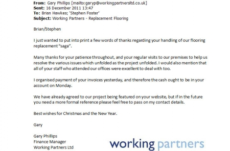 Working Partners Testimonial