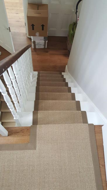 portfolio carpets brown stairs with brown stair runner 02