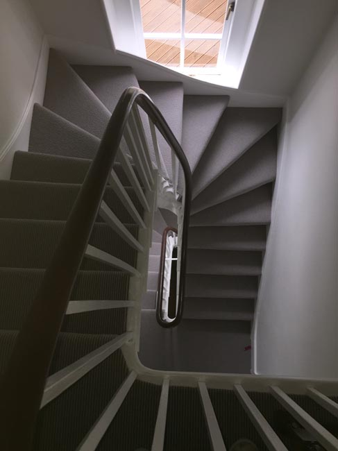 portfolio carpets grey stair carpet installed 01