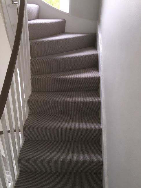 portfolio carpets grey stair carpet installed 03