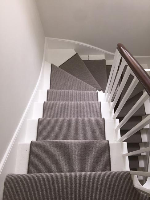 portfolio carpets grey stair carpet installed 06