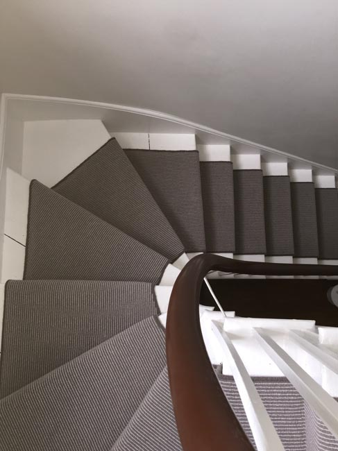 portfolio carpets grey stair carpet installed 08