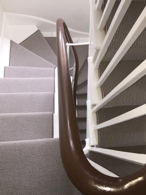 portfolio carpets grey stair carpet installed 10