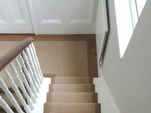 Brown Stair Runner with Brown Border
