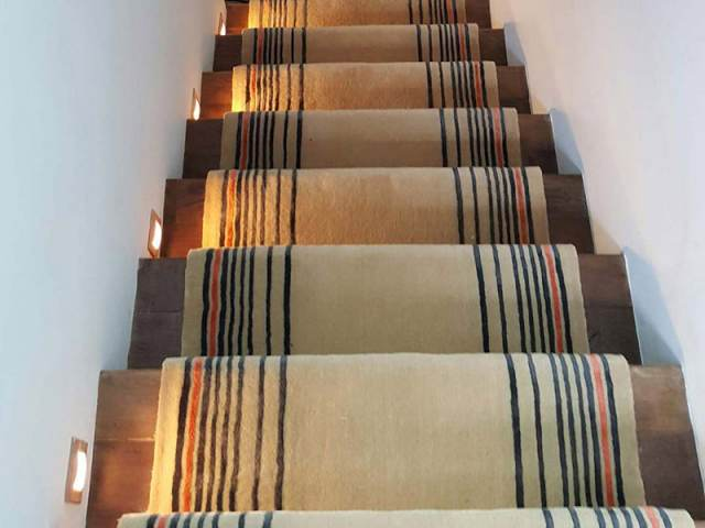 Beige Carpet Runner with Some Stripes