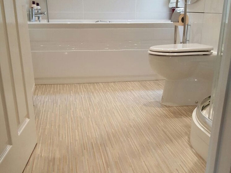 Install sheet vinyl flooring bathroom for How to install linoleum floor in bathroom