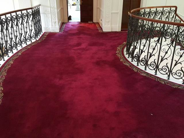 Red Stair Carpet with Border