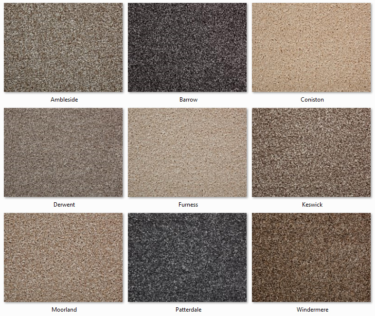 Clarendon Carpets - Easycare Anti-Stain - Lakeland Twist Range