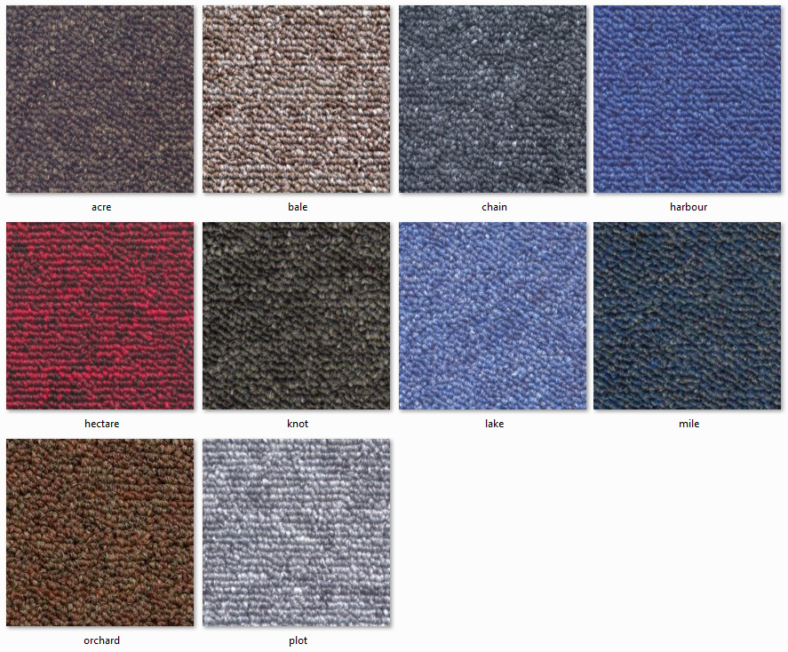 Dyne Carpet Tiles - New Area Ranges