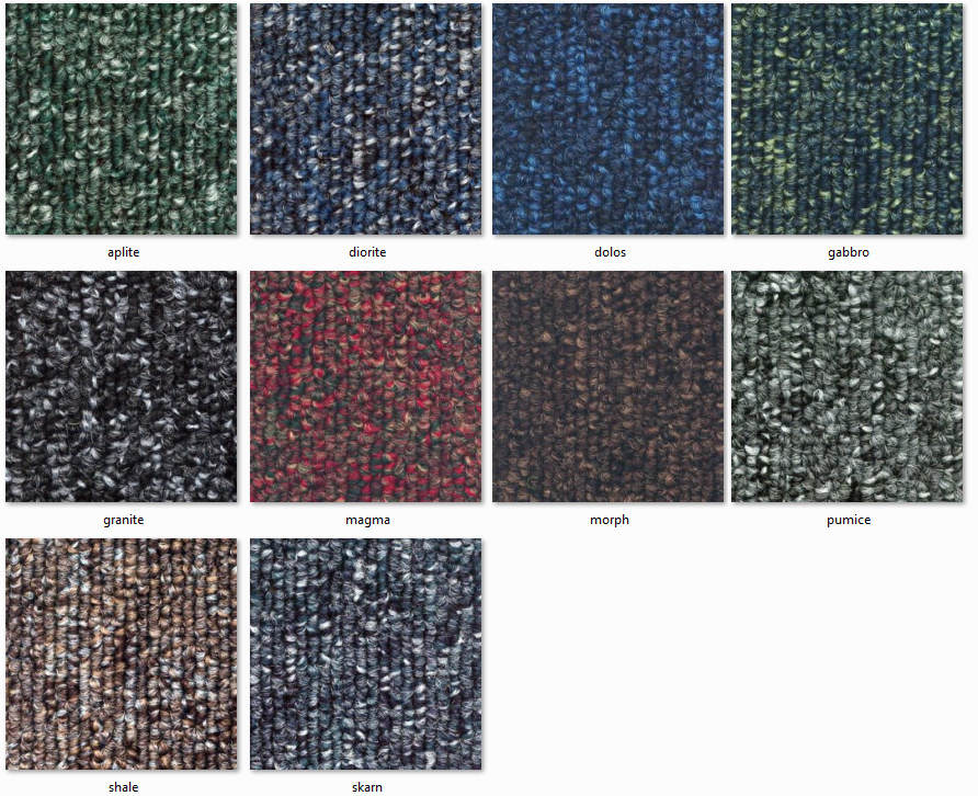 Dyne Carpet Tiles - Tectonic Ranges