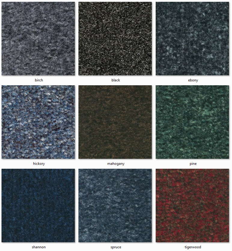 Dyne Carpet Tiles - Velveteen Ranges