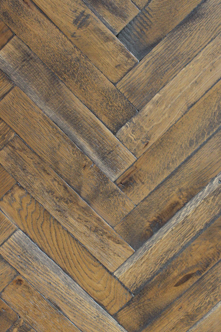 Rover's Flooring - Special Design Floors - Distressed refinished blocks detailed