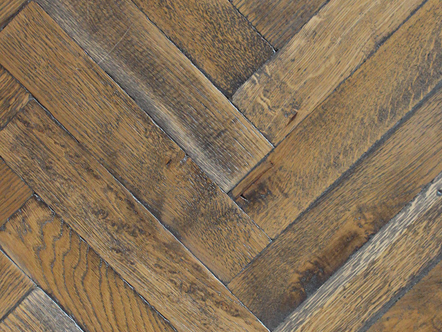 Rover's Flooring – Special Design Floors – Distressed refinished blocks