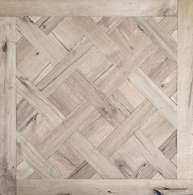 Rover's Flooring - Special Design Floors - Ripped Oak Versailles panel 2 detailed