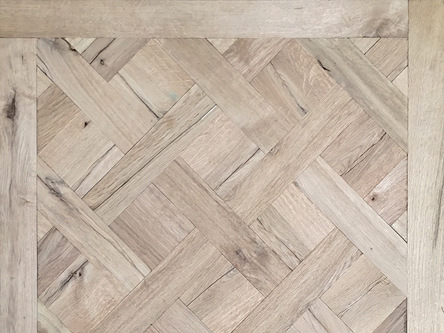 Rover's Flooring – Special Design Floors – Ripped Oak Versailles panel 2
