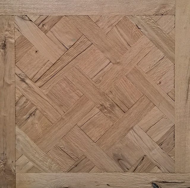 Rover's Flooring - Special Design Floors - Ripped Oak Versailles panel detailed