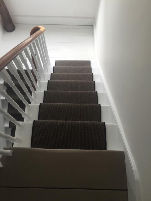 portfolio carpets dark grey stair carpet with black whipping 03