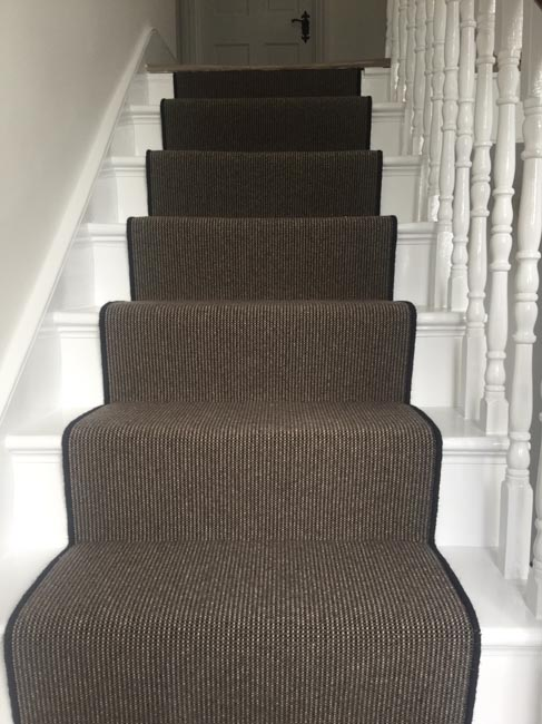 portfolio carpets dark grey stair carpet with black whipping 06