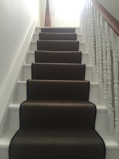 portfolio carpets dark grey stair carpet with black whipping 08