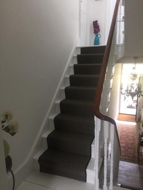 portfolio carpets dark grey stair carpet with black whipping 11