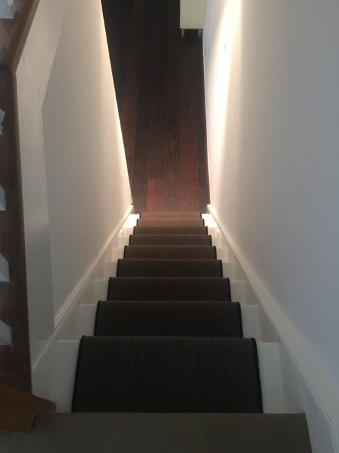 portfolio carpets dark grey stair carpet with black whipping 12