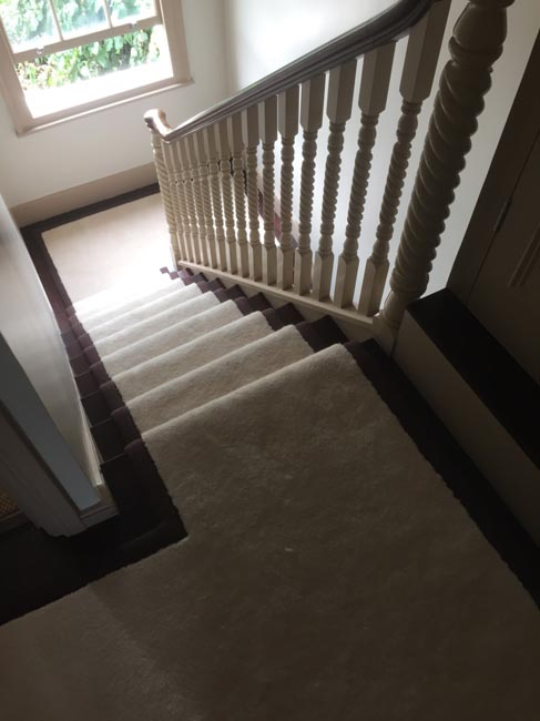 portfolio carpets white stairs black broder runner 13