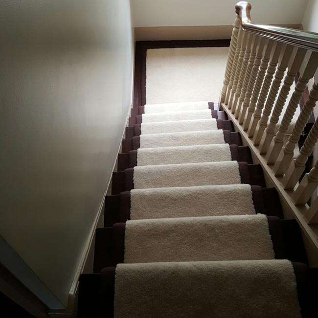 portfolio carpets white stairs black broder runner 17