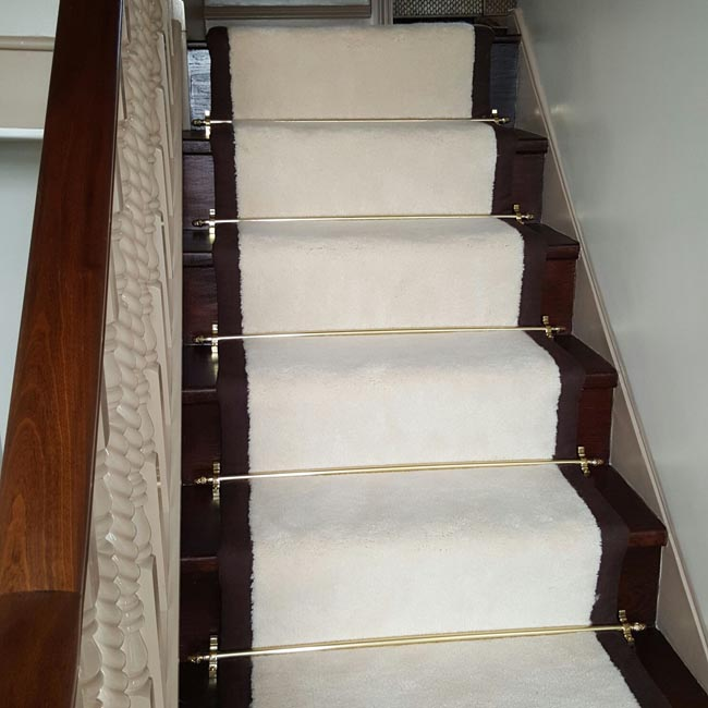 portfolio carpets white stairs black broder runner 21