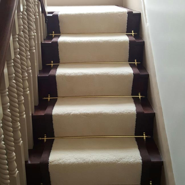 portfolio carpets white stairs black broder runner 22