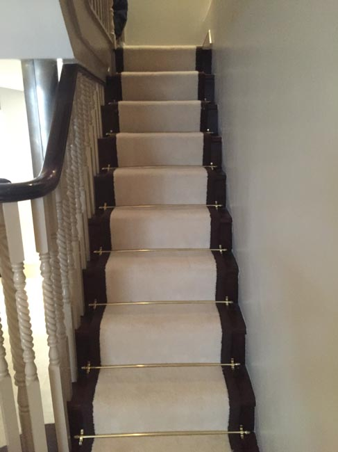 portfolio carpets white stairs black broder runner 26