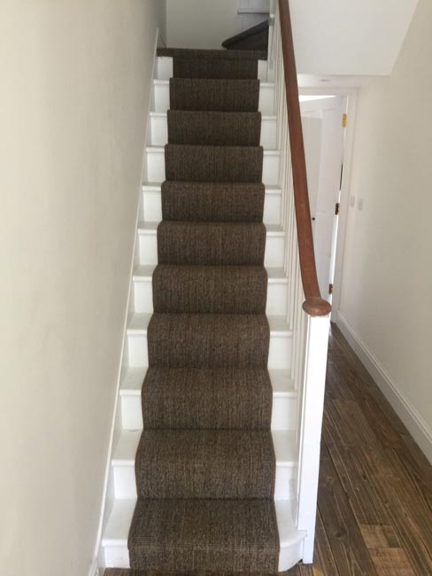 portfolio carpets dark sisal stairs installation runner 01