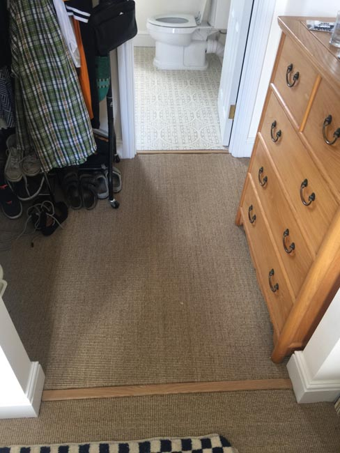 portfolio carpets dark sisal stairs installation runner 02