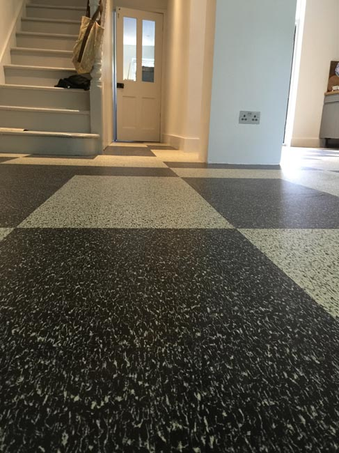 portfolio smooth floors black and white marmoleum pattern 07