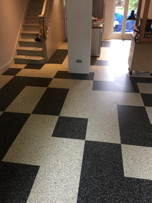 portfolio smooth floors black and white marmoleum pattern 10