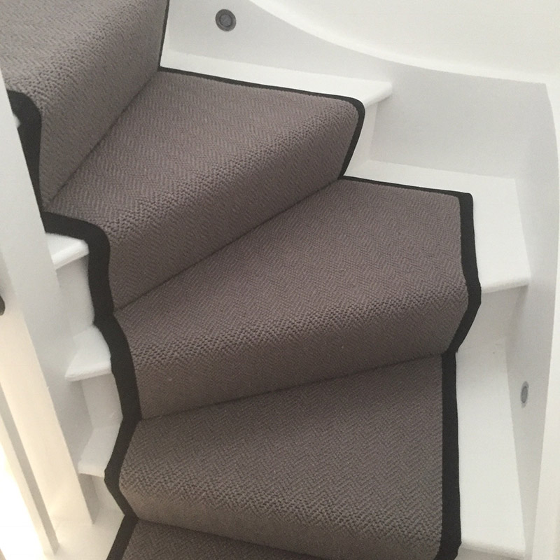 Grey Stair Runner With Black Binding On The Sides 20170805_120605000_iOS1