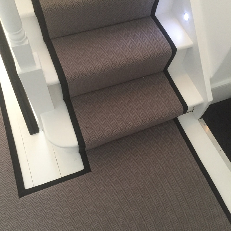 Grey Stair Runner With Black Binding On The Sides 20170805_120623000_iOS5