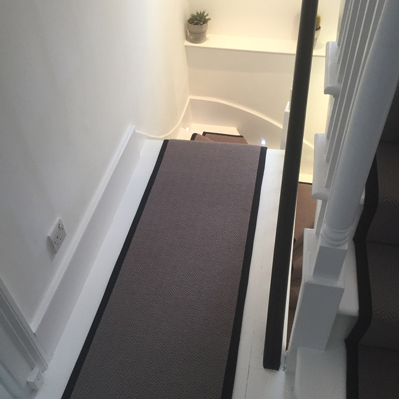 Grey Stair Runner With Black Binding On The Sides 20170805_120624000_iOS6