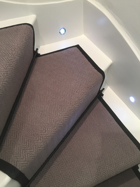 Portfolio Carpet Grey Stair Runner Rods Installation 4
