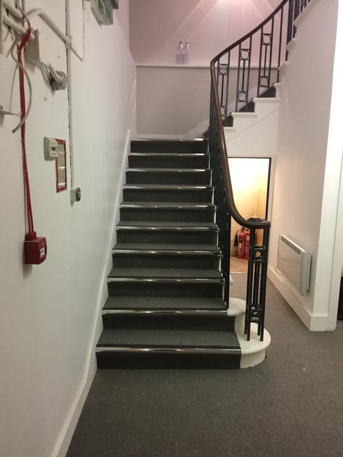portfolio commercial carpet tile stairs with nosings 01