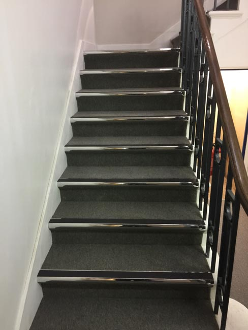 portfolio commercial carpet tile stairs with nosings 03