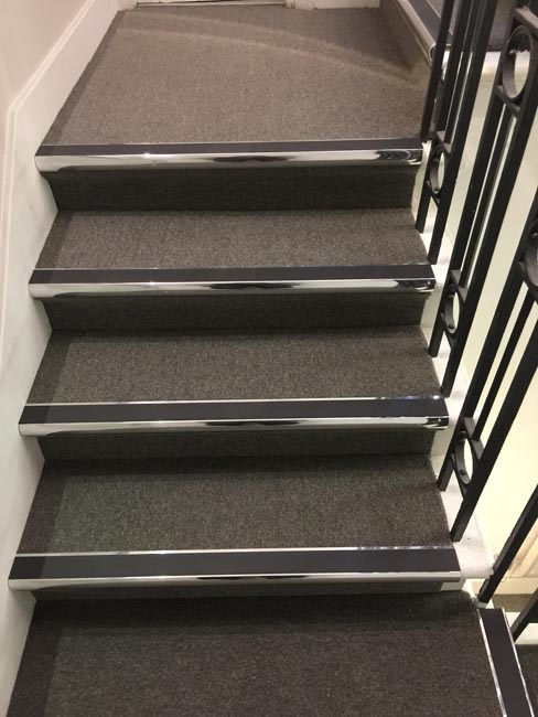 portfolio commercial carpet tile stairs with nosings 04