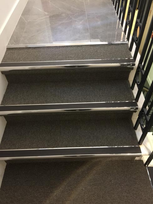 portfolio commercial carpet tile stairs with nosings 05