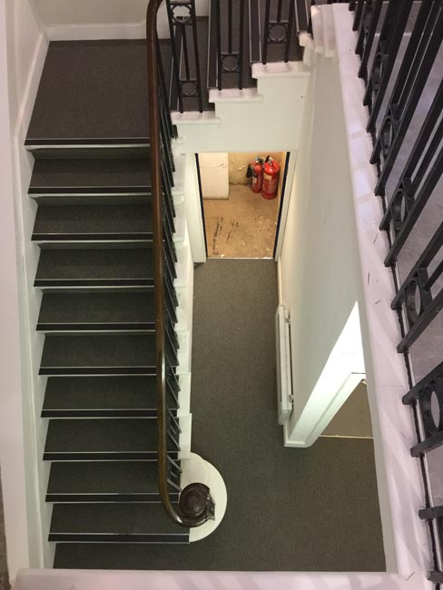 portfolio commercial carpet tile stairs with nosings 06