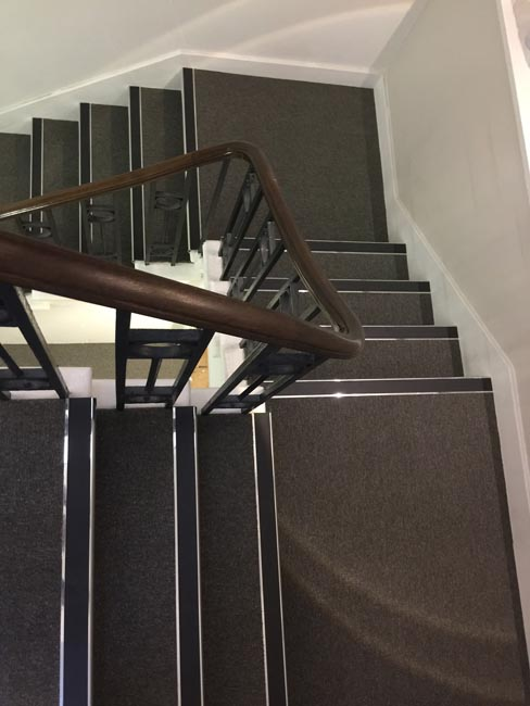 portfolio commercial carpet tile stairs with nosings 07