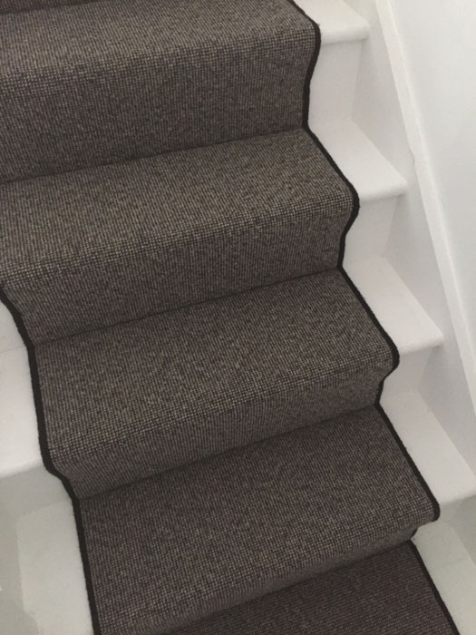 portfolio grey stair runner with black whipping 03