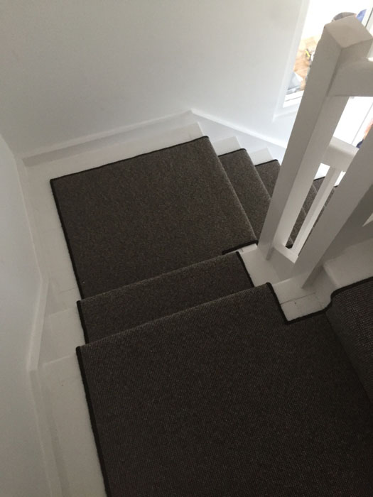 portfolio grey stair runner with black whipping 04