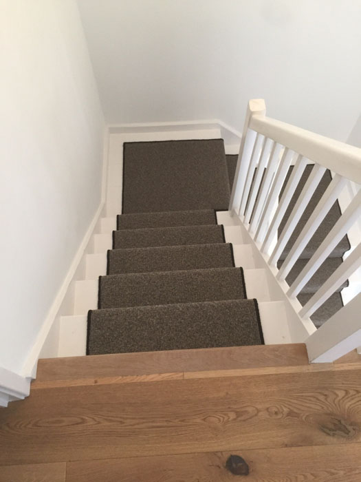 portfolio grey stair runner with black whipping 05